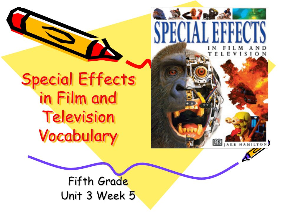 Special Effects in Film and Television Vocabulary Fifth Grade Unit 3 Week 5