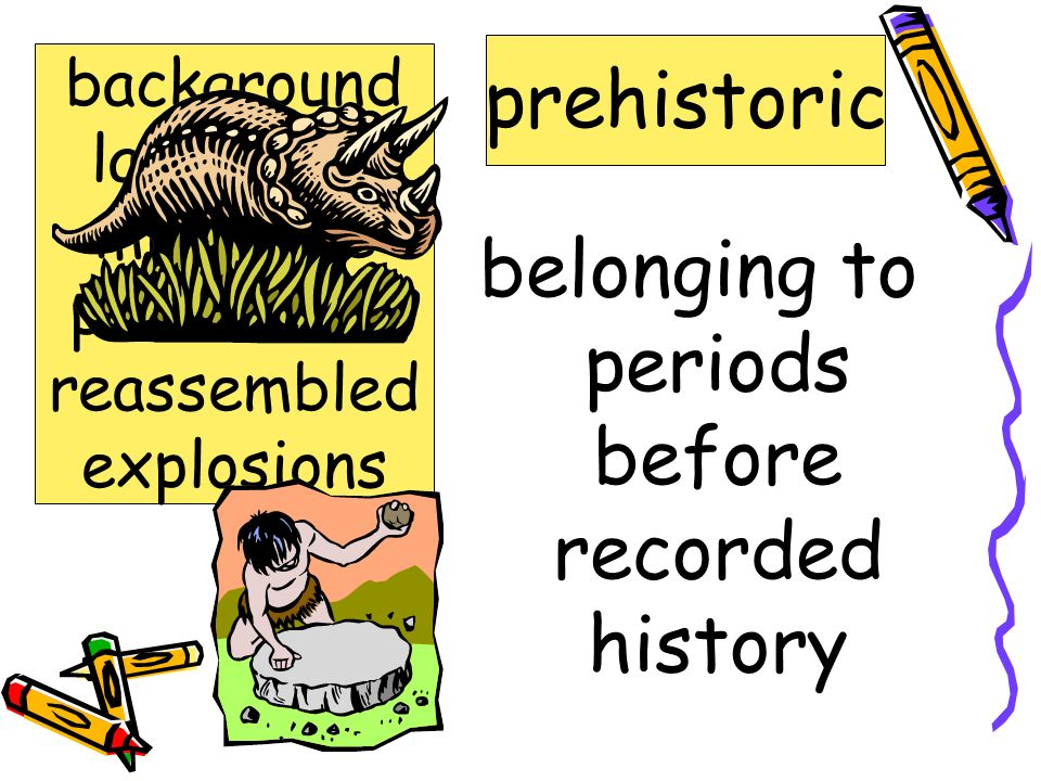 belonging to periods before recorded history prehistoric background landscape miniature prehistoric reassembled explosions