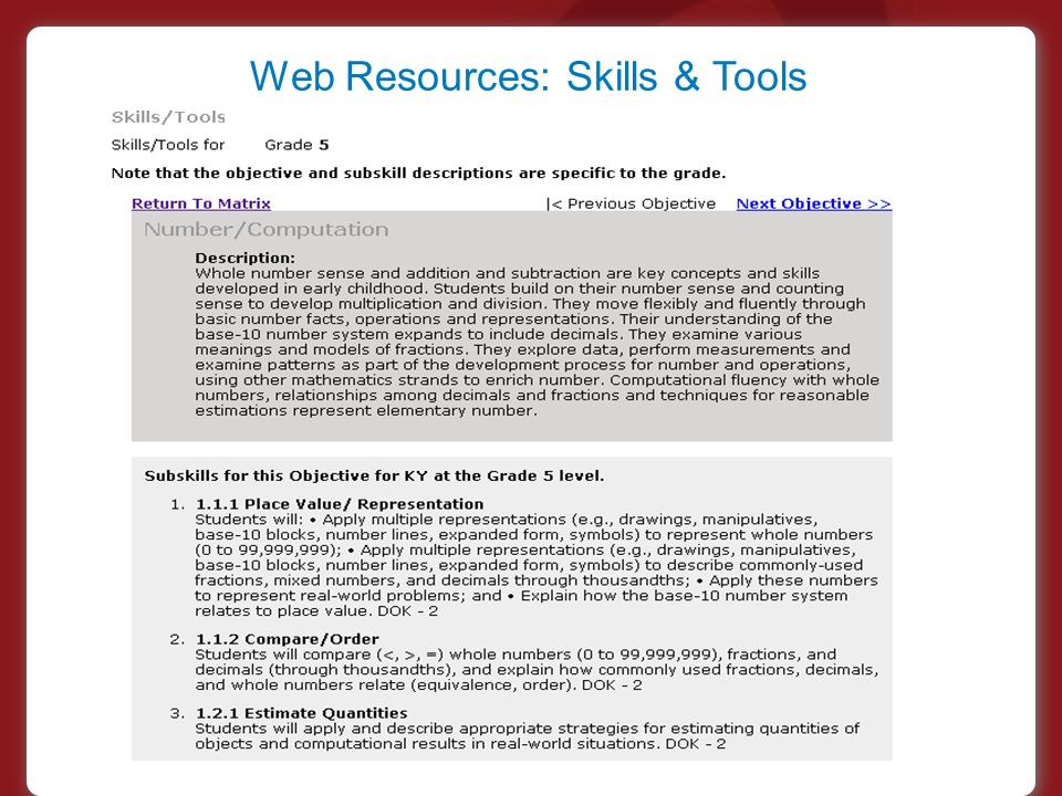Web Resources: Skills & Tools