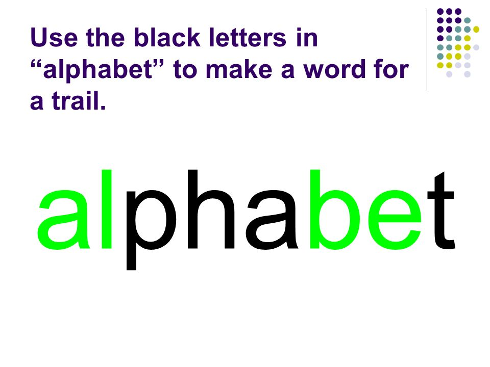 alphabet You should have spelled…