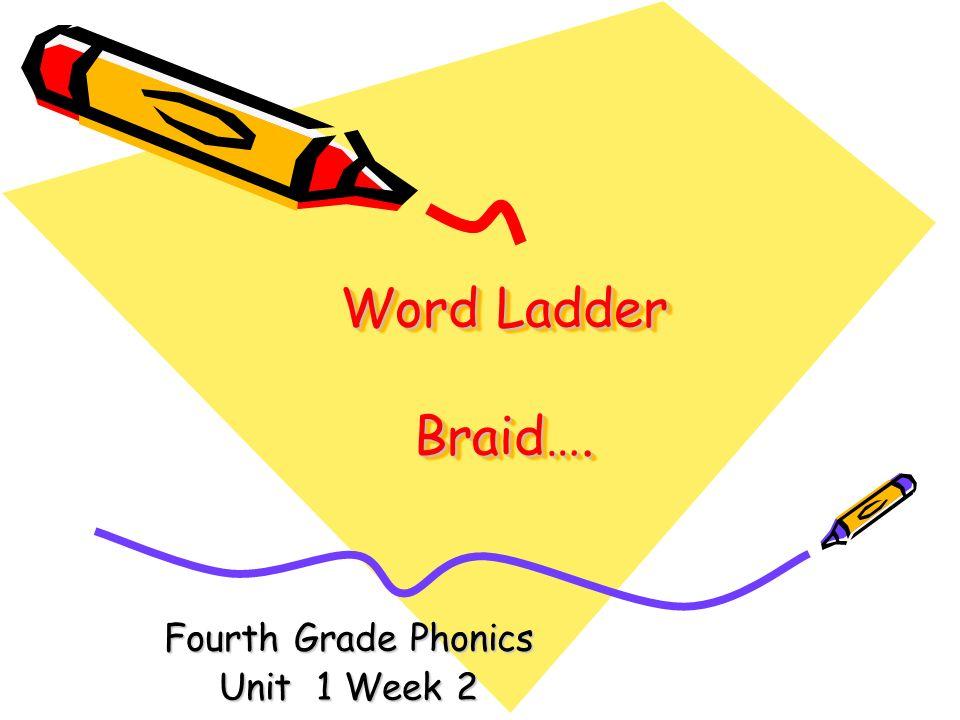 Word Ladder Braid…. Fourth Grade Phonics Unit 1 Week 2