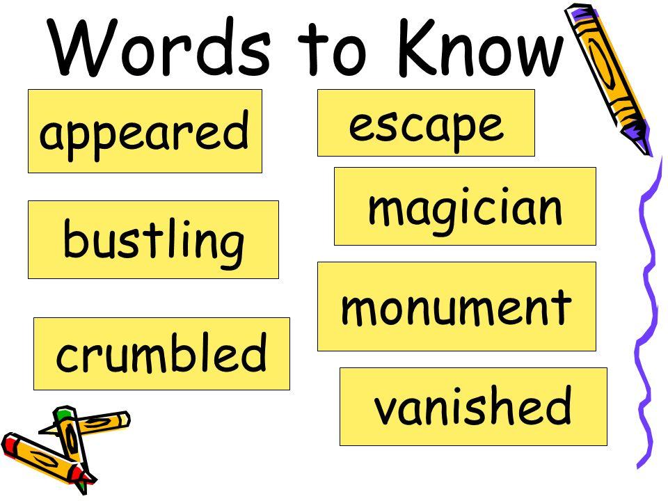 The Houdini Box Vocabulary Fourth Grade Unit 4 Week 1