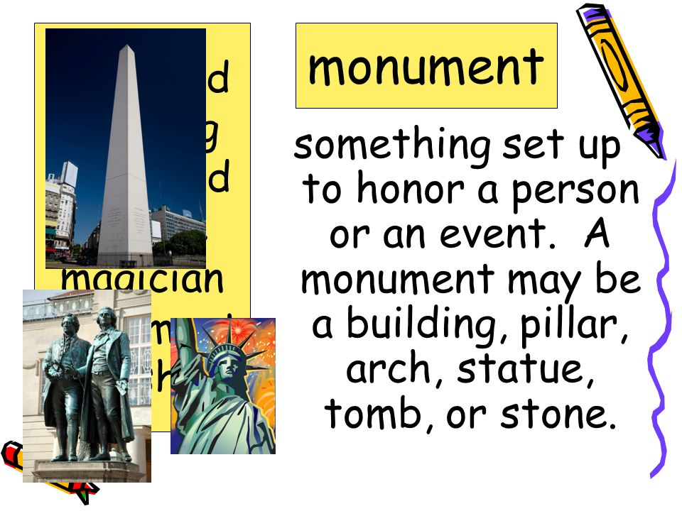 to get out and away; to get free escape appeared bustling crumbled escape magician monument vanished