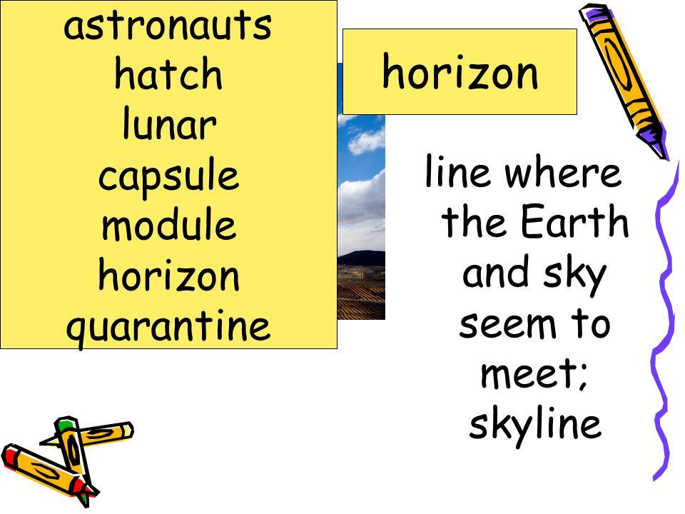 pilots or members of the crew of a spacecraft astronauts hatch lunar capsule module horizon quarantine