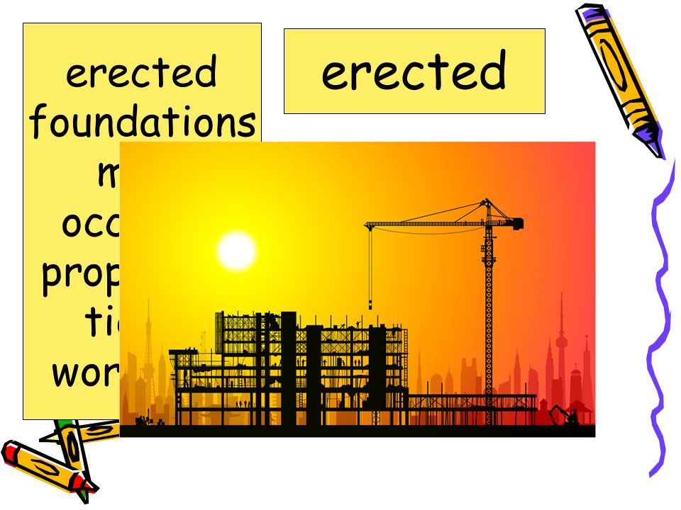 A special event occasion erected foundations mold occasion proportion tidied workshop