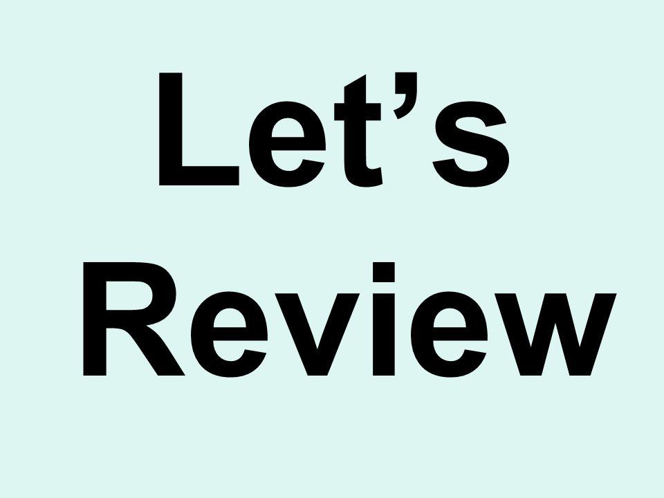 Lets Review