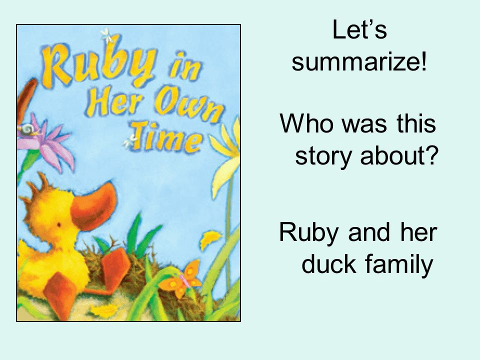 Lets summarize! What was the setting of the story? in a nest by a lake