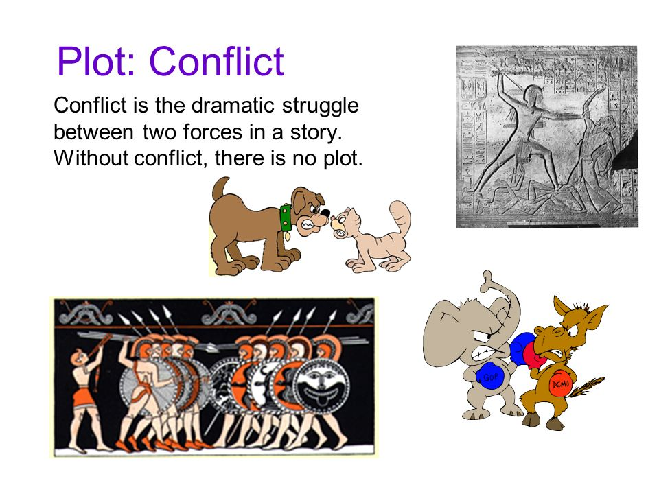 Plot: Conflict Conflict is the dramatic struggle between two forces in a story. Without conflict, there is no plot.