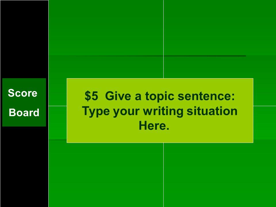 Challenge 1: $5
