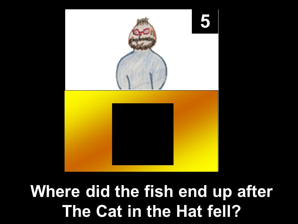 5 Where did the fish end up after The Cat in the Hat fell?