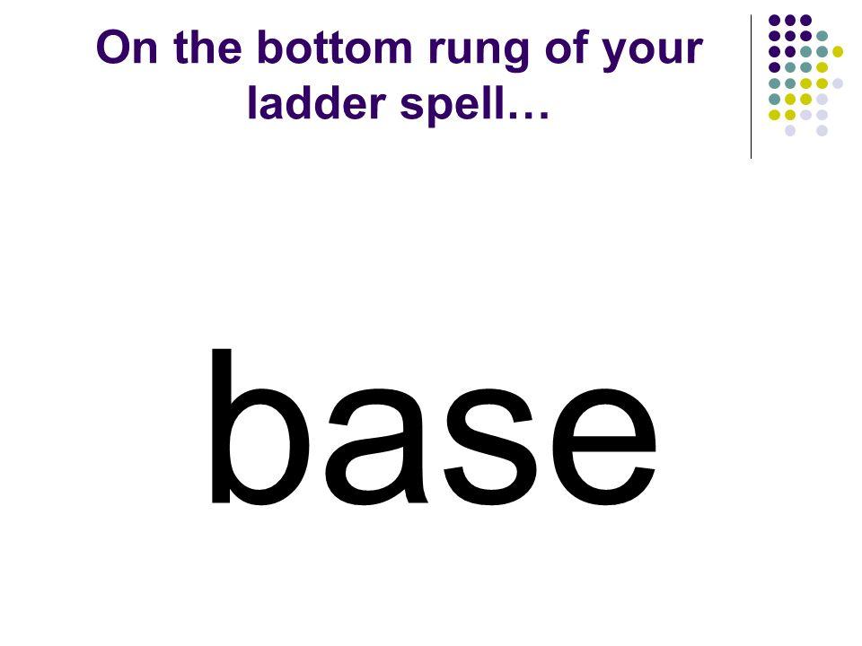 Word Ladders First Grade Base - Ball Unit 4 Week 5 Created by Kristi Waltke