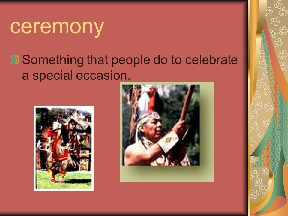 Amazing Words ceremony culture festival compliment fidget evergreen multicolored sash