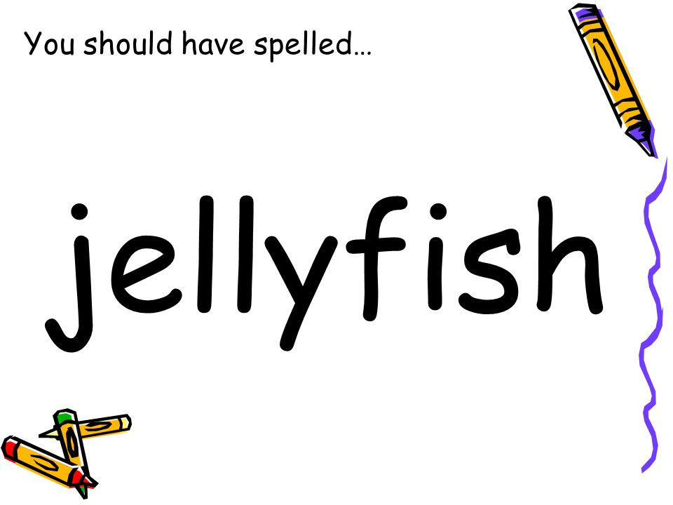 You should have spelled… jellyfish