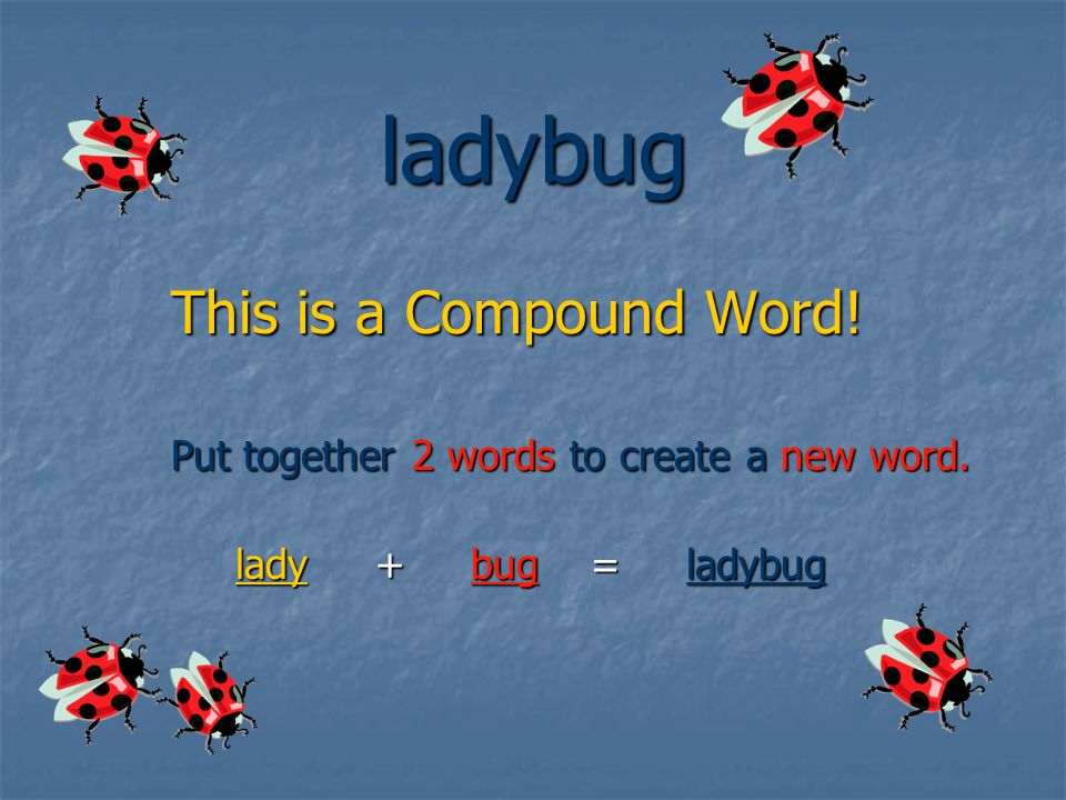 WHY? WHY? WHY? Compound Compound Words Words are everywhere! You You use compound words when you write! see them when you read!