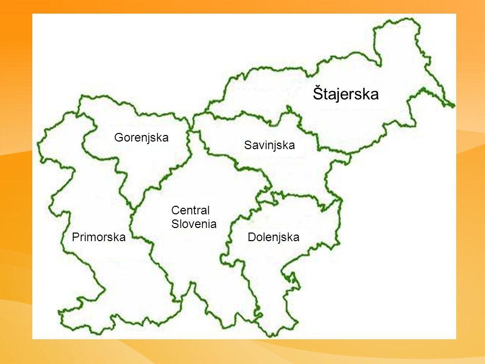 Štajerska Savinjska Central Slovenia Gorenjska DolenjskaPrimorska