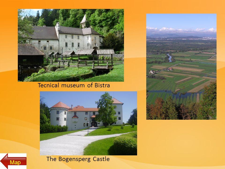 Tecnical museum of Bistra The Bogensperg Castle Map