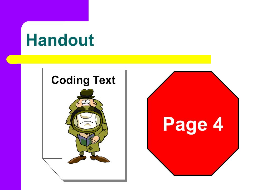 Handout Coding Text Page 4