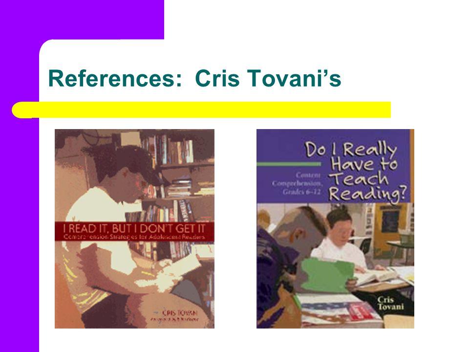 References: Cris Tovanis