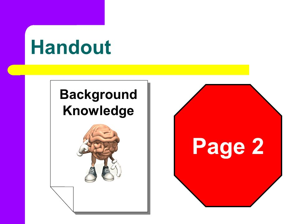 Handout Background Knowledge Page 2