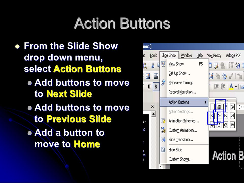 Edit the Master Slide On the View drop down menu, select Master, then Master Slide.