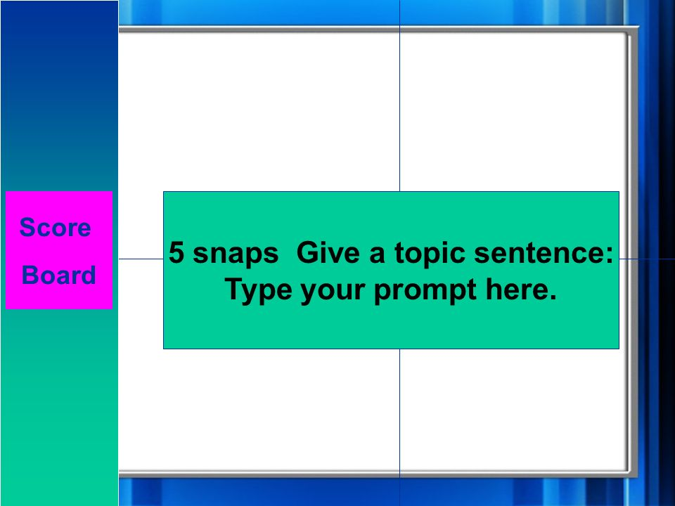 Challenge 1: 5 Snaps