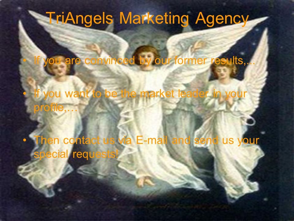 TriAngels Marketing Agency If you are convinced by our former results,...