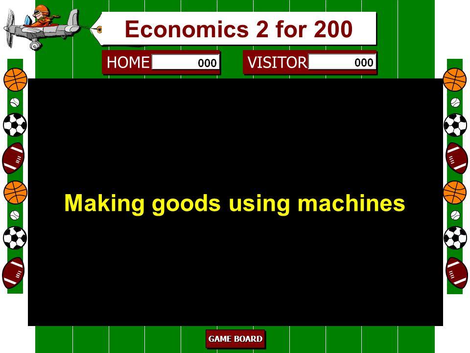 HOME VISITOR GAME BOARD GAME BOARD GAME BOARD GAME BOARD agriculture 100 Farming Economics 2 for 100