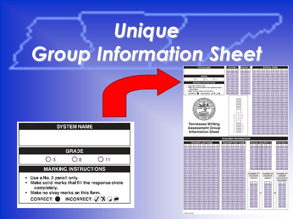 22 Unique Group Information Sheet