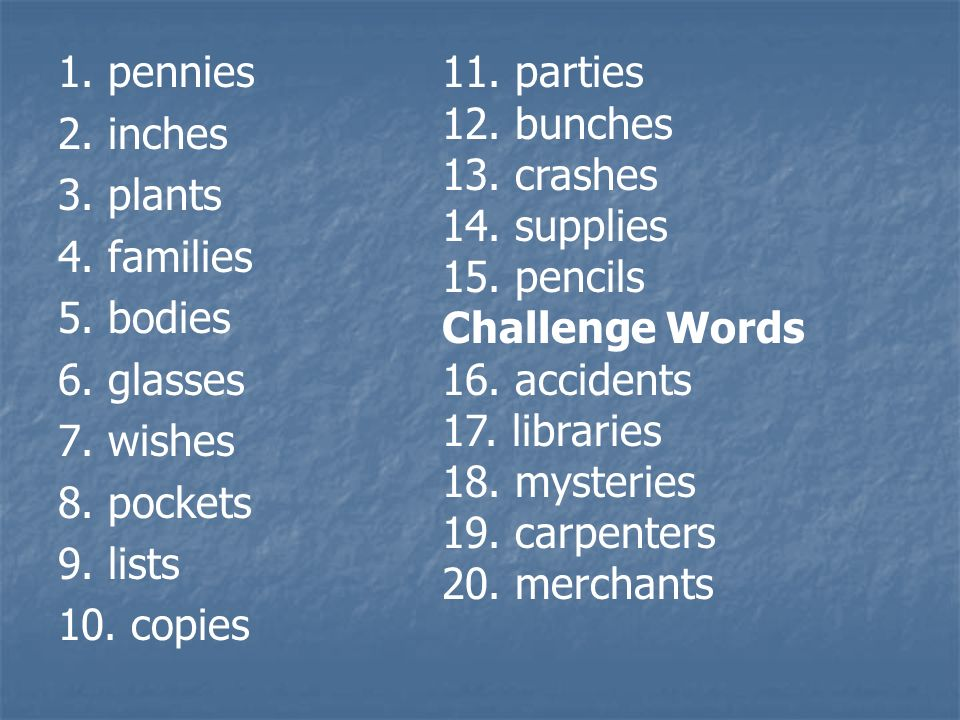 Spelling Day 5 Objective: Spell plurals by adding -s or -es to most words. Objective: Spell plurals by adding -s or -es to most words.