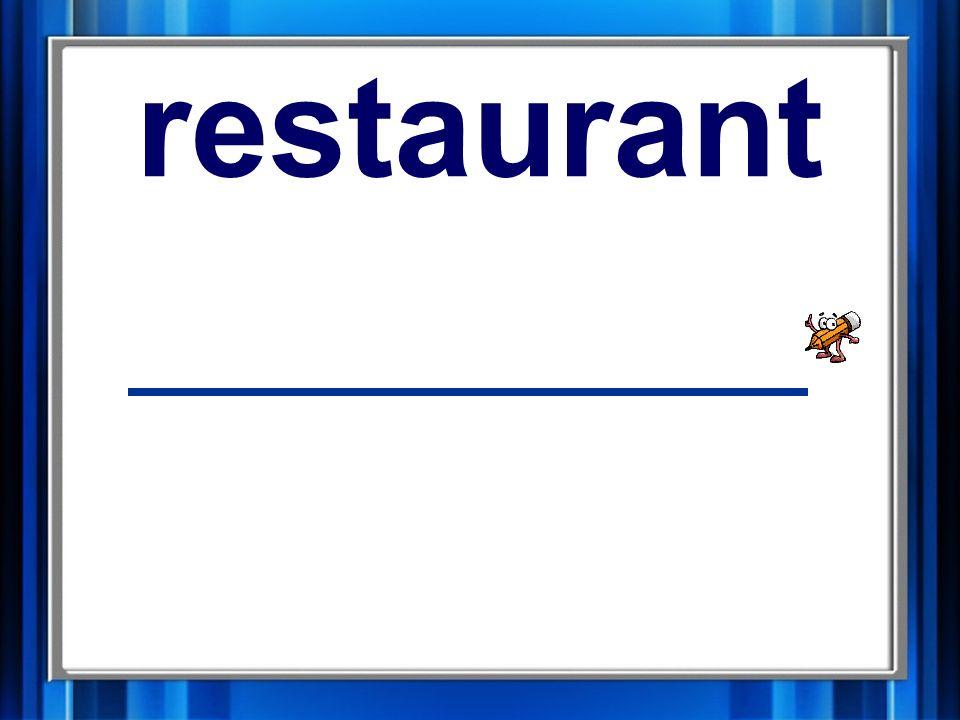 17. restaurant restaurant