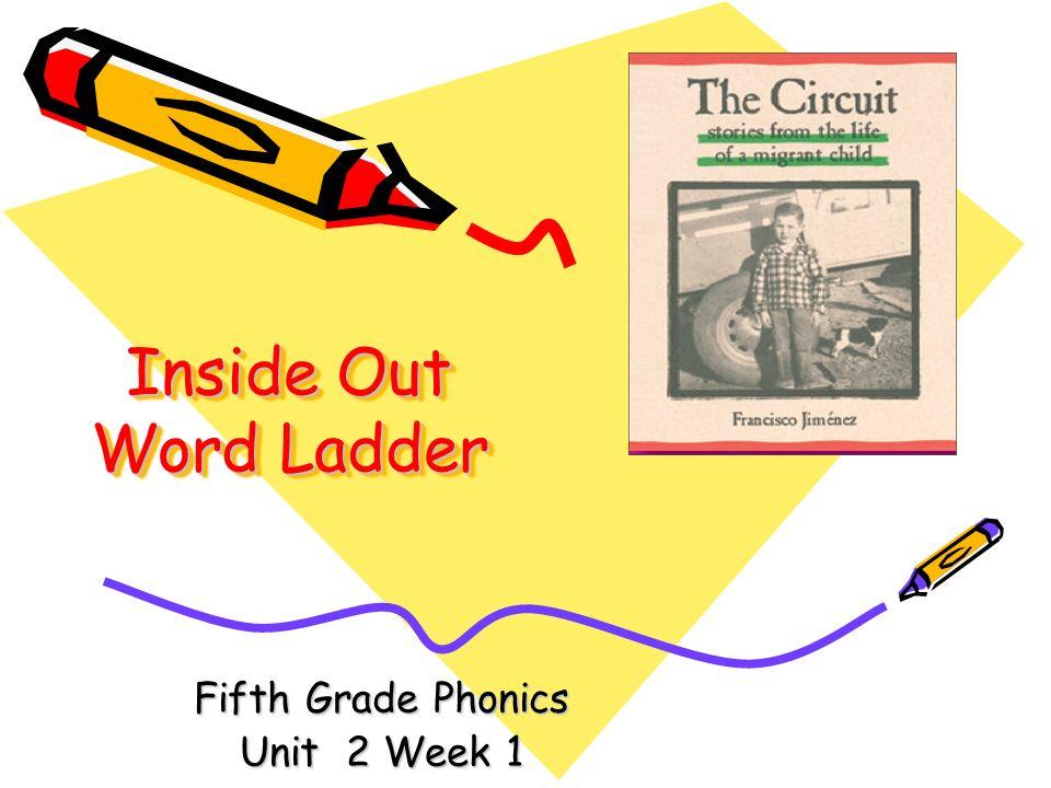 Inside Out Word Ladder Fifth Grade Phonics Unit 2 Week 1