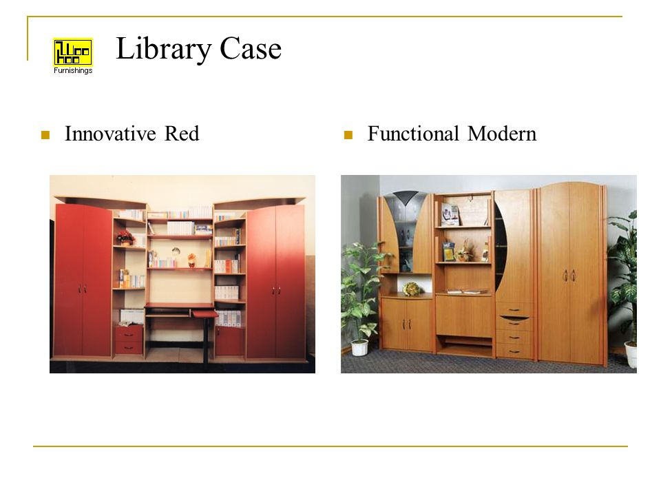 Library Case Innovative Red Functional Modern