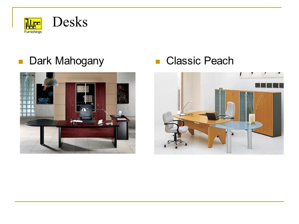 Desks Dark Mahogany Classic Peach