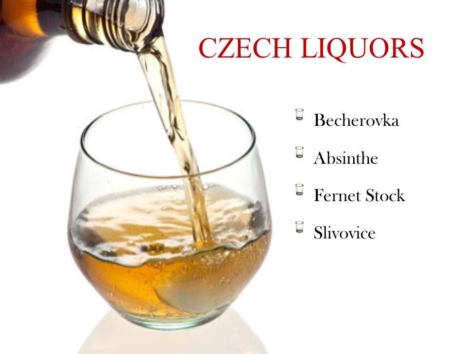 CZECH LIQUORS Becherovka Absinthe Fernet Stock Slivovice