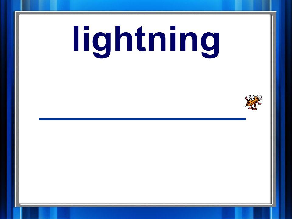 16. lightning lightning