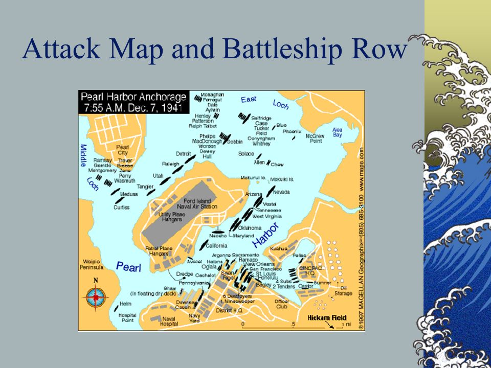 Attack Map and Battleship Row