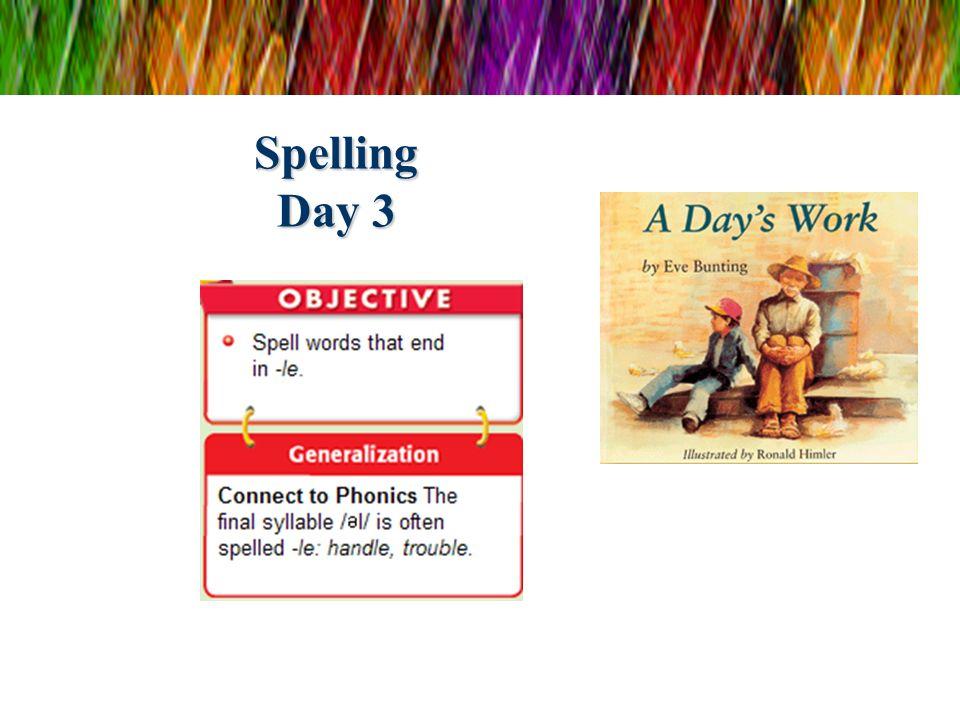 Spelling Day 3