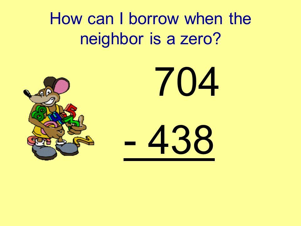 Subtraction Across a Zero Third Grade