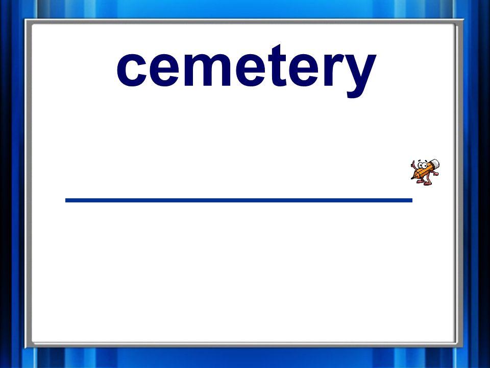 11. cemetery cemetery