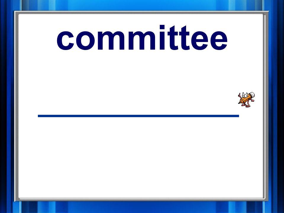 12. committee committee