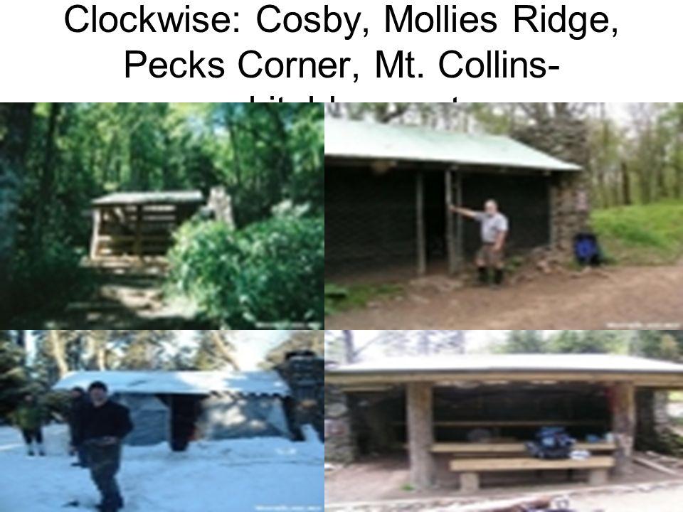 Clockwise: Cosby, Mollies Ridge, Pecks Corner, Mt. Collins- whiteblaze.net