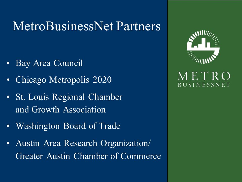 Bay Area Council $100 million for Smart Growth Fund$100 million for Smart Growth Fund Investments in inner-city neighborhoodsInvestments in inner-city neighborhoods Market rate of return on investmentMarket rate of return on investment Social return to community in jobs, housing, transitSocial return to community in jobs, housing, transit Regional Business Solutions: Invest in Smart Growth