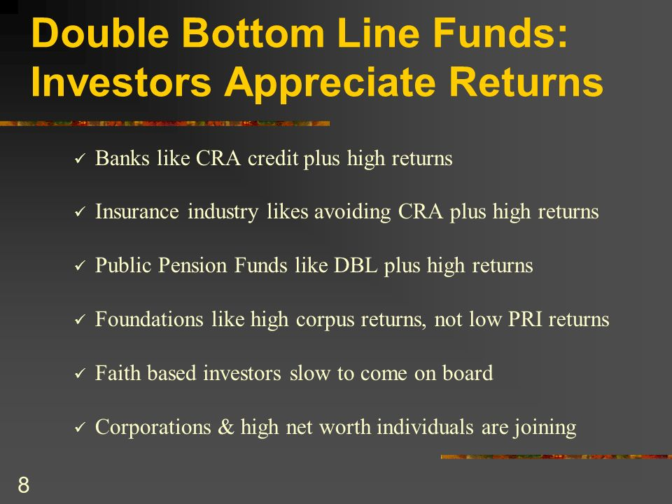 9 Double Bottom Line Funds Capitalize Strong Demand