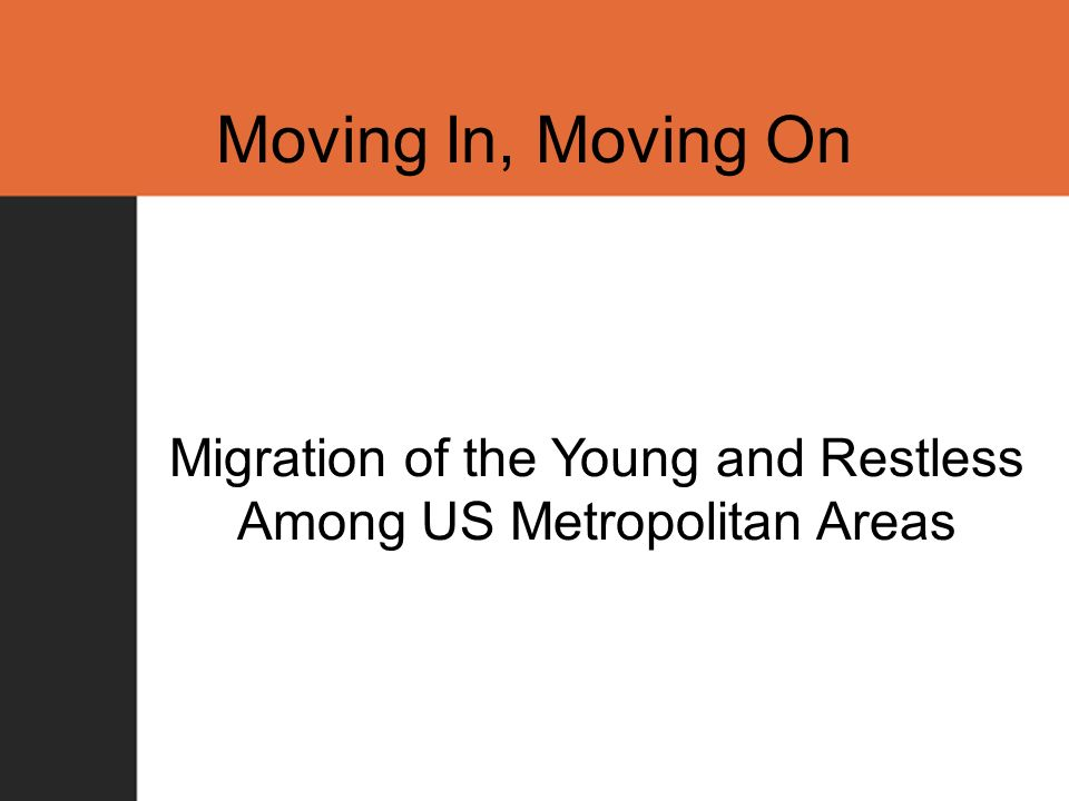 Moving In, Moving On Migration of the Young and Restless Among US Metropolitan Areas