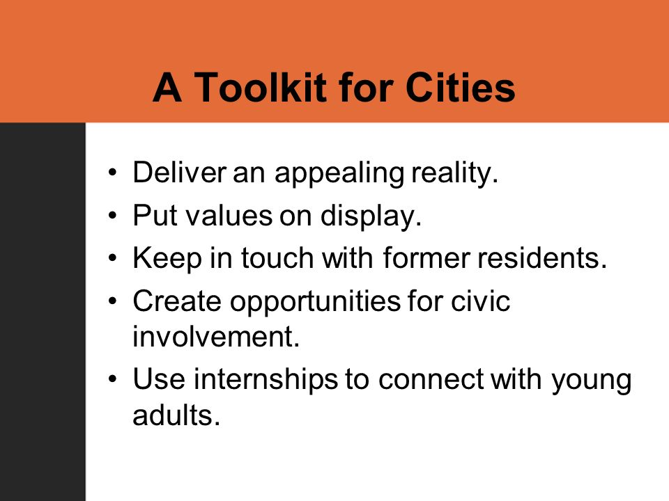 A Toolkit for Cities Deliver an appealing reality.