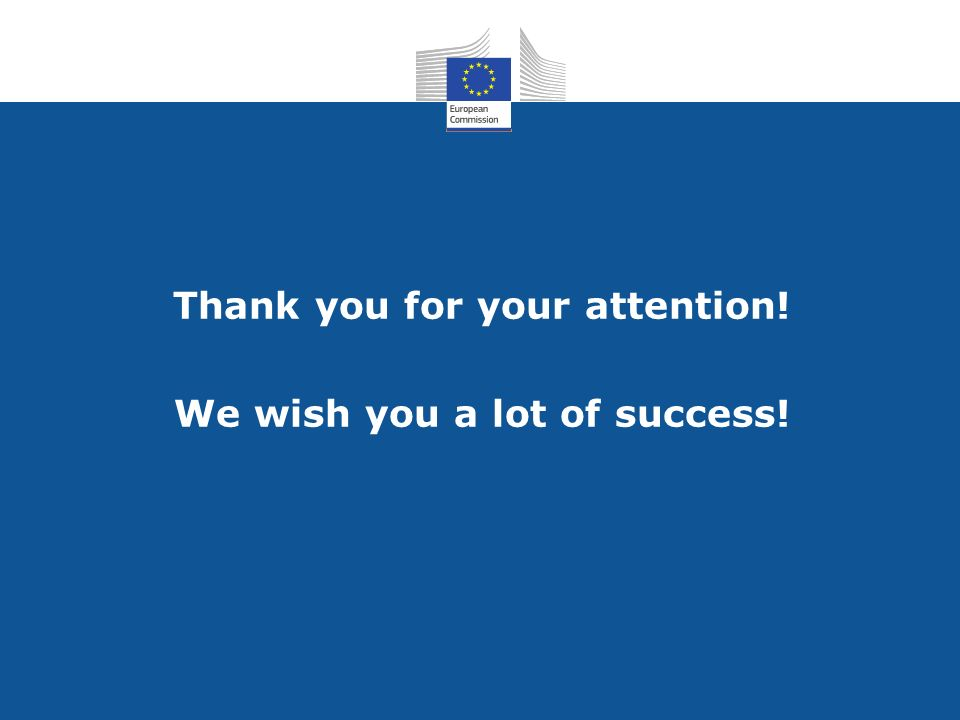 Thank you for your attention! We wish you a lot of success!