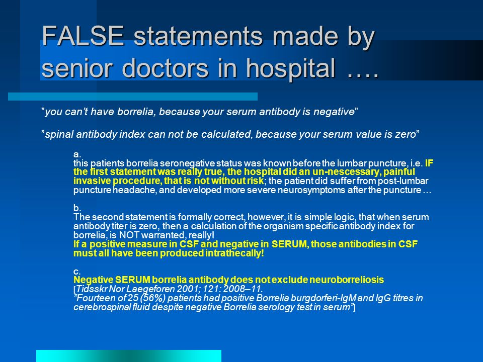 FALSE statements made by senior doctors in hospital ….