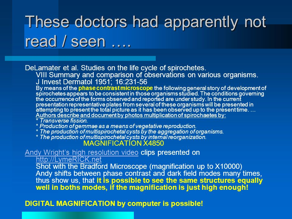 These doctors had apparently not read / seen …. DeLamater et al.