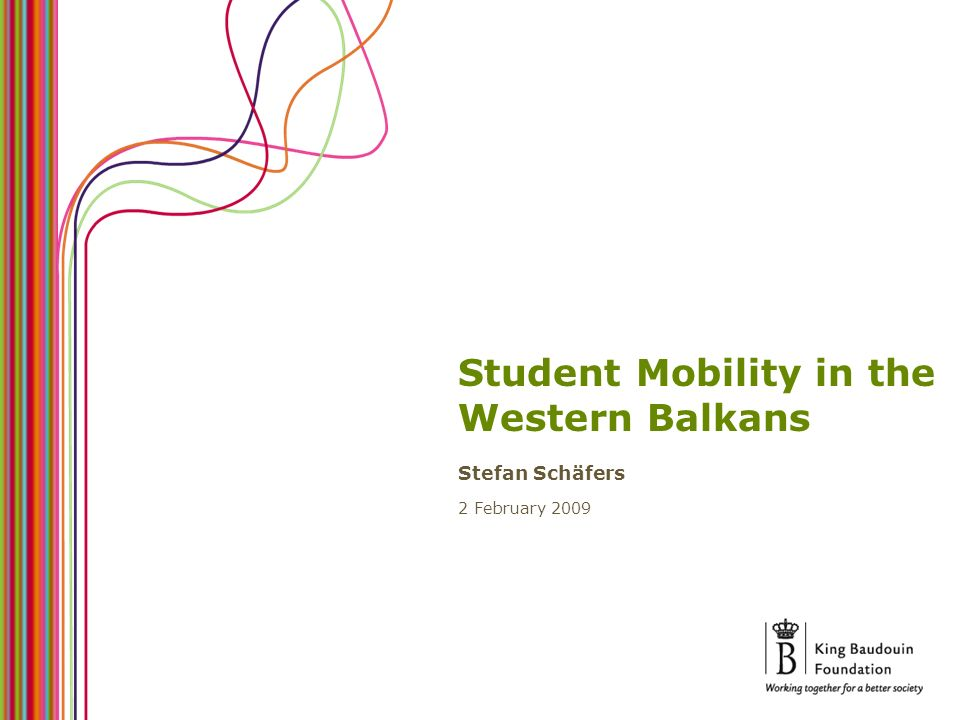 Student Mobility in the Western Balkans Stefan Schäfers 2 February 2009
