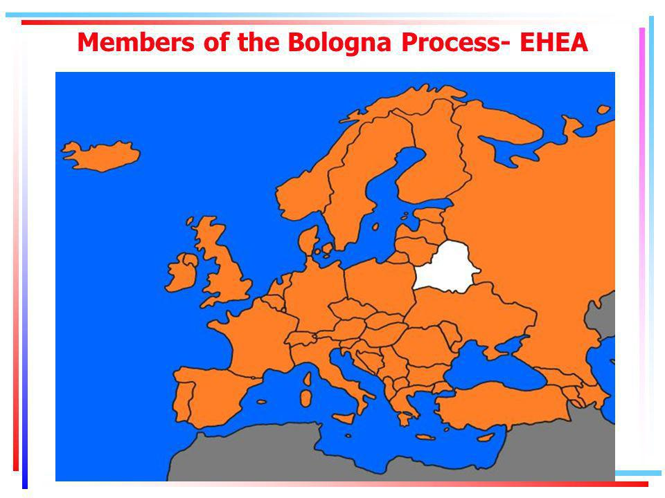 Members of the Bologna Process- EHEA
